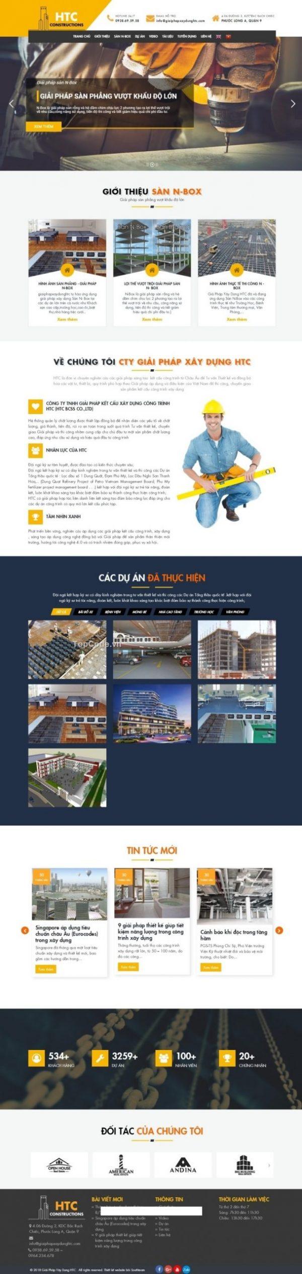 Website giới thiệu công ty Xây Dựng chuẩn SEO