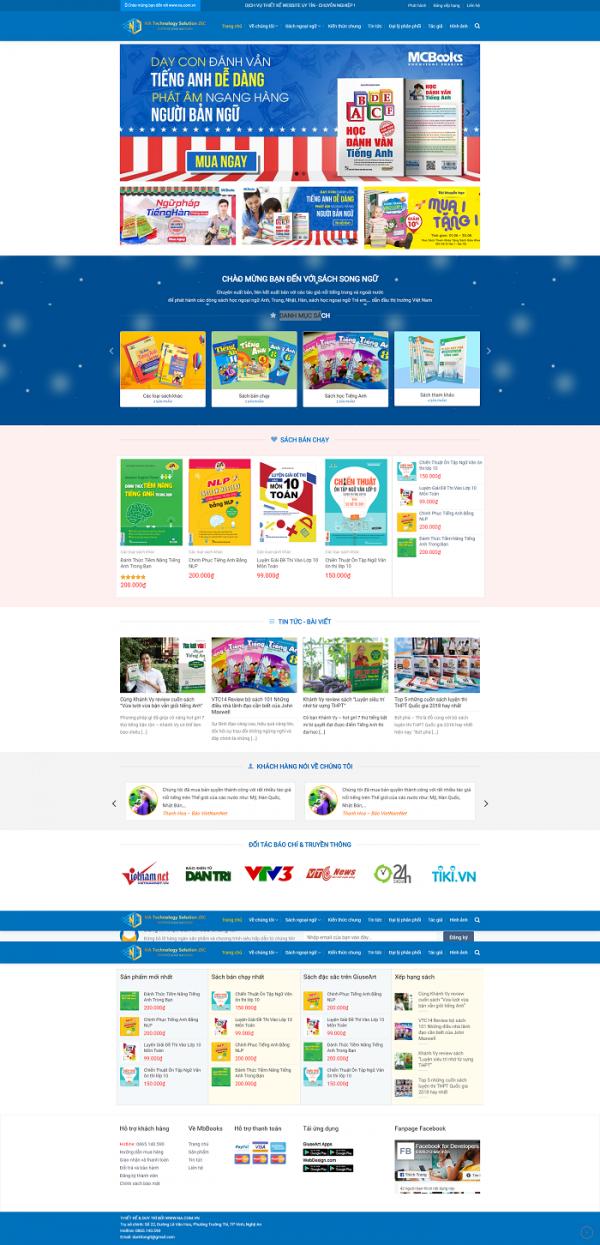 Mẫu website bán sách