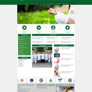 Website phòng khám đông y đẹp
