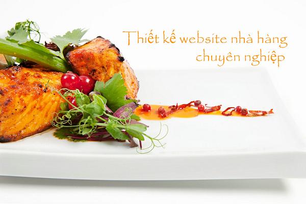 Dịch vụ thiết kế web nhà hàng chuyên nghiệp